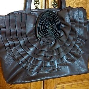 Brown floral purse